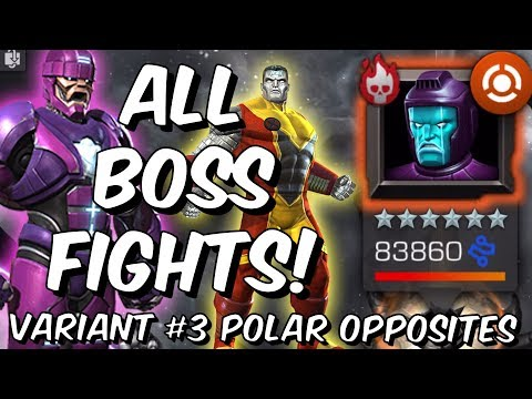 Variant #3 Polar Opposites All Boss Fights! - Kang, Wolverine! - Marvel Contest of Champions