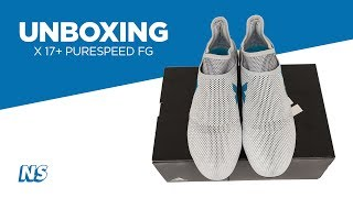 Adidas Mens X 17+ Purespeed Firm Ground Soccer Cleats Dust Storm Unboxing
