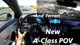 Mercedes A-Class 2018 180d AMG line - POV test drive by JR