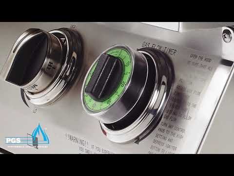 One hour gas flow timer feature for T-Series PGS Grills by AEI Corporation.