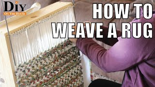How To Weave A Rag Rug Using Scrap Fabric | EASY Rug Weaving Projects