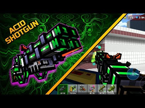 Pixel Gun 3D - Acid Shotgun [Review]