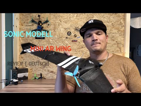 mini-ar-wing-sonic-modell-600mm-review--build-german-deutsch--fpv-wing-flying
