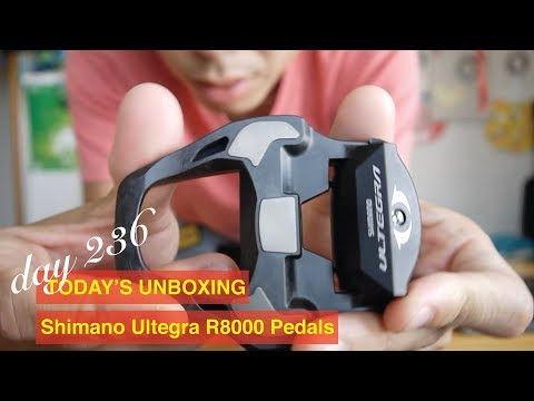 Day 236 Today's unboxing: Shimano Ultegra R8000 Pedals