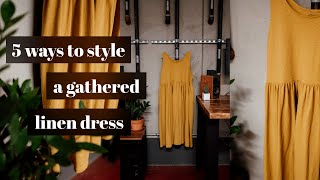5 Ways To Style A Gathered Linen Dress