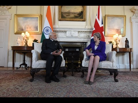 PM Modi speaks about ideals and teachings of Lord Basaveshwara with Theresa May