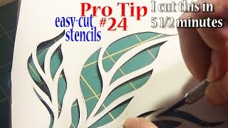 Pro Sewing Tips: #24 | Cut Stencils From Vinyl Wallpaper | Easy On Your Fingers | ZSA Tutorials