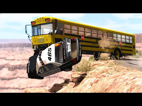 CLIFF DROPS #5 - BeamNG Drive | CRASHdriven