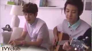 Baekhyun Singing Live High by Jason Mraz (Chanyeol on guitar)