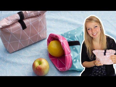 Lunchbag / Schwimmtasche nähen mit Wachstuch – DIY Eule