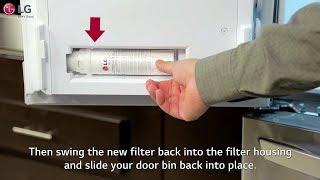 LG Refrigerator - How To Change The Water Filter (4 Door-French Door)