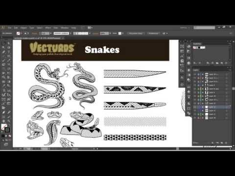 Vecturds™ - Snakes (Pack 1) [ Illustrator CS4-CC ]