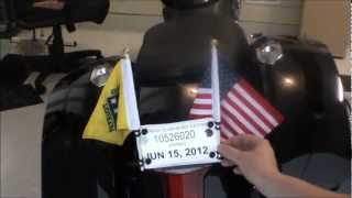 How to make inexpensive motorcycle flag poles