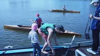 Подготовка обучения байдарки каноэ, детского спорта на реке, навыки гребли, видео Training training