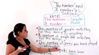 """Using """"The Number"""" And """"A Number"""" As Sentence Subjects"""