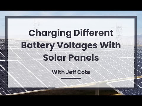 Can I Use Solar To Charge Three Different Battery Voltages on My Boat?  12V, 24V and 32V?