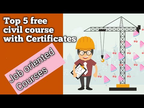 Top 5 free civil courses with certificates | certification courses for civil ...