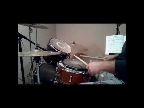 Drum Demonstration of Alfred Drum Method Book 1 Lesson 19 Combination Study with Metronome