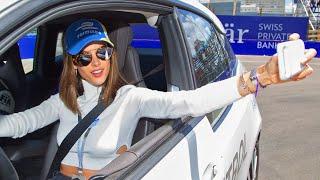 SUPERMODEL ALESSANDRA AMBROSIO: BMW i3 Lap