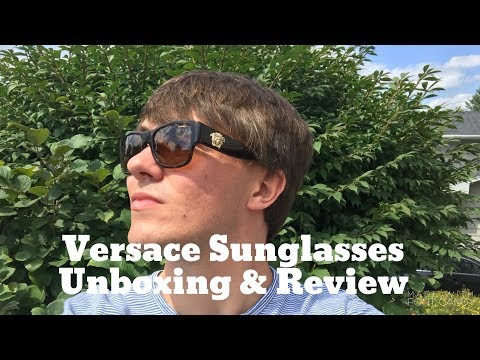 Versace Sunglasses Unboxing & Review