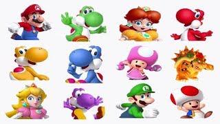 Super Mario Run - All Characters