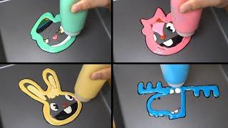 HTF Emogi Pancake Art - FNF Fliqpy, Giggles, Cuddles, Lumpy (happy friends tree)