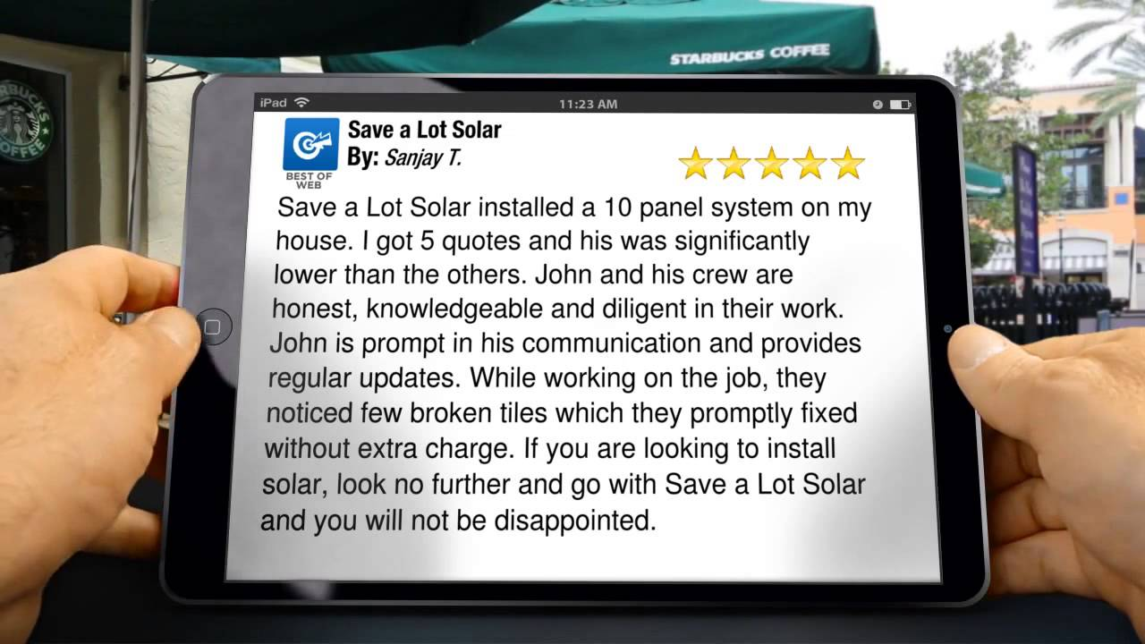 Save a Lot Solar Review