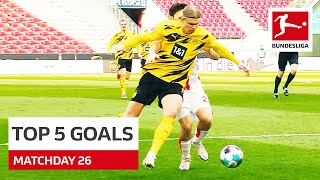 Top 5 Goals • Haaland, Gnabry & More   Gameday 26 - 2020/21
