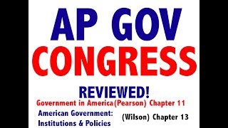 AP GOV Review Chapter 11 Congress