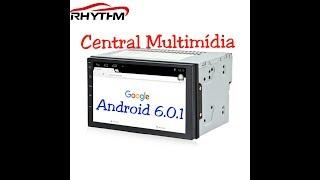 Central Multimídia Android 6.1 R$:414,00 aliexpress sem taxar. Unboxing quad core 16gb rom 1gb ram