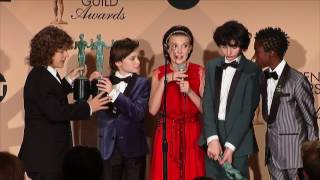 Interview des enfants de Stranger Things suite à la récompense.