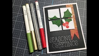 Holiday Card You'll Want to Make Today - Heat Embossing with Cricut Pens