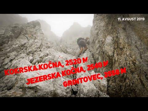 Kokrska Kočna, Jezerska Kočna in Grintovec, 11.8.2019