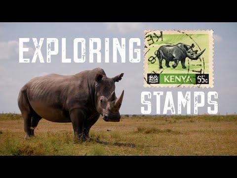 Exploring Stamps: Rhinos & Kenya