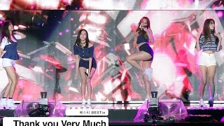 베스티 BESTie[4K 직캠]Thank you Very Much@20161002 Rock Music