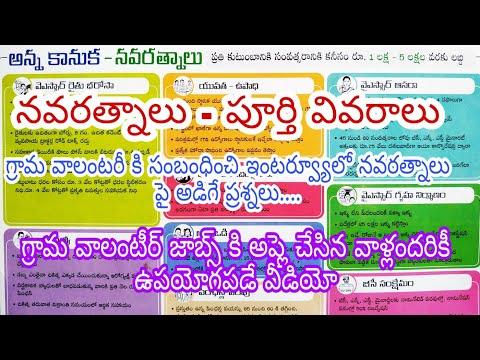 AP Village volunteers interview questions/Navaratnalu full