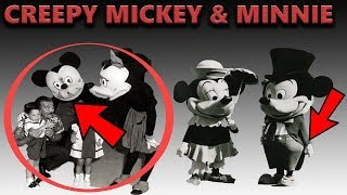 Creepy Disney Mickey And Minnie Costumes - Retired Disney Characters