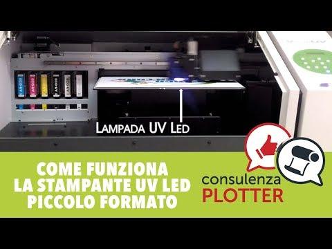 Come funziona la stampante UV Led piccolo formato