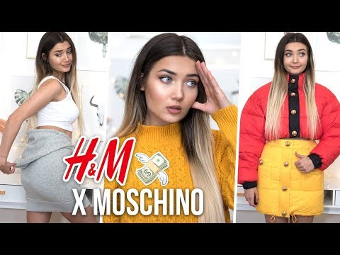I SPENT £600 ON H&M X MOSCHINO! WTF DID I EVEN BUY... онлайн видео