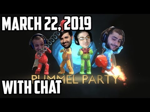 Tyler1 plays Pummel Party w/ Trick2g, Voyboy & Yassuo [WITH CHAT] [March 22, 2019]