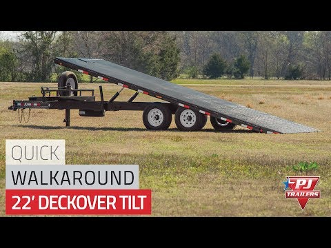 2021 PJ Trailers Deckover Tilt (T8) 26 ft. in Elk Grove, California - Video 1