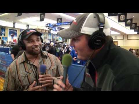 Philip Rivers Gives Lorenzo Neal the Business on Radio Row