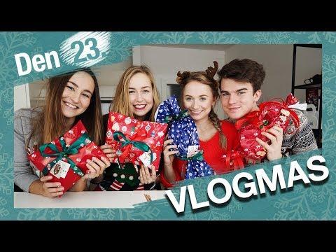 VLOGMAS Den 23. | Balíme vánoční dárky s Shopaholic Nicol a Kovym!!