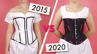 Comparing My FIRST Corset To My BEST Corset: Sewing A Victorian Corset