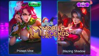 Esmeralda Blazing Shadow Skin VS Poison Ivy Skin Mobile Legends Bang Bang