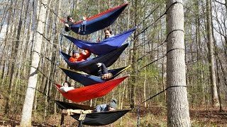 Stacking Eno Hammocks 6 High! (first Try Ever)