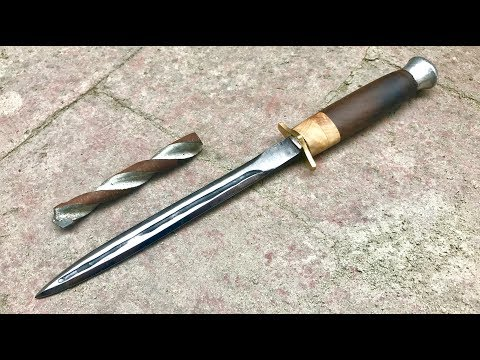 Forging a Dagger from a Drill Bit