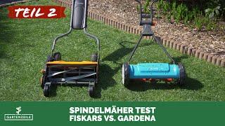 Spindelmäher Test (2/2) - 2 Geräte von Gardena und Fiskars im Vergleich