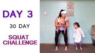 DAY 3 | 30 Day Squat Challenge | 100 SQUATS Daily ♡ Babywearing Workout ♡ Fitness For Mamas