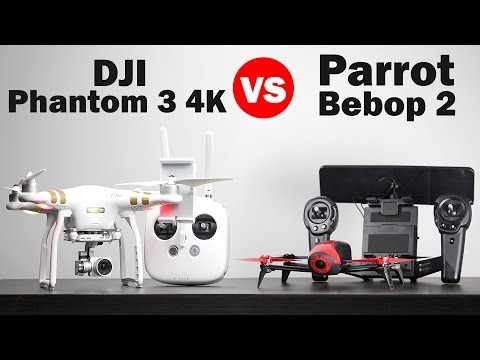 Parrot Bebop 2 vs DJI Phantom 3 4k - Drone Comparison